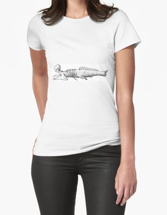 t-shirt, mermaid, ship, ocean, middle ages, fairy tale, myth