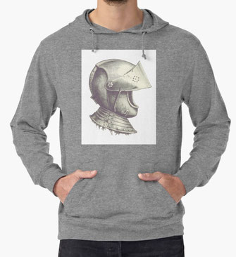 Hoodies Hoody knight helmet middle ages