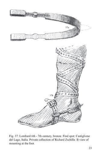Lombard 6th - 7th century, bronze. Find spot: Castiglione del Lago, Italia. Private collection of Richard Zschille. B view of mounting at the foot.