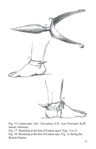 Latène spur, 2nd - 3rd century A.D., iron. Find spot: Kyffhäuser, Germany.
