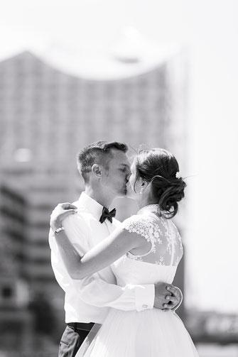 Hochzeitsfotos in Hafencity und Speicherstadt