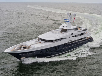 luxury yacht photography north sea