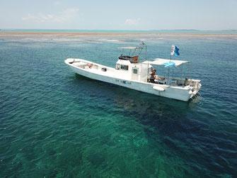 ダイビングボート「HARU号」海から