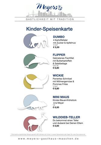 Meyers Gasthaus Maschen, Seevetal, Kinder-Speisenkarte