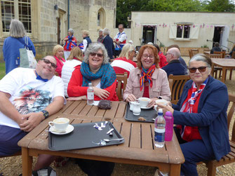 Wessex Chorus choir singing outside the Bournemouth Pavilion.