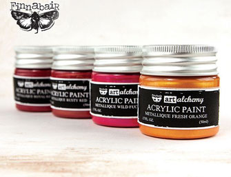 UK Stockist Finnabair Art Alchemy Acrylic Paints