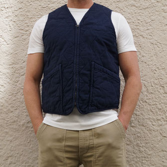 TELLASON GILET QUILTED F30 NAVY