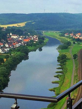 Die Weser - vom Skywalk aus! (Foto Christian Beste)