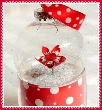 Fleurigami, fleur en papier, boule de noël, cadeau, enseignant, éducatrice