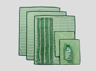 Bambus Kristall Reinigungstücher