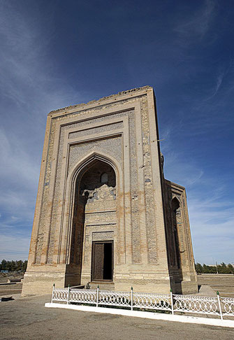 Mausoleum of Turabek-Khanym. The largest building in the plain of Konye-Urgench. Turabek-Khanym was the daughter of Uzbek Khan who converted the area to Islam.