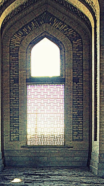 Lattices window inside the Turabek-Khanym Mausoleum