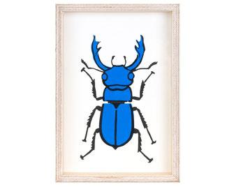 Hirschkäfer blau