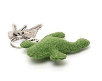 Kleiner Frosch als Schlüsselanhänger