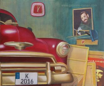 Cuba, Fidel Castro, Che, Chevroet with golden Bumper, five past twelve