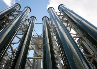 ATHEX-Rohre aus PMMA in großen Durchmessern