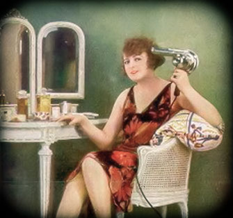 1950s advertising of AEG hairdryers