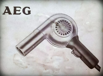 Photo of the original packaging of the AEG hairdryer