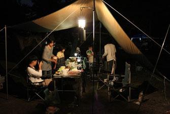 夜間BBQ②