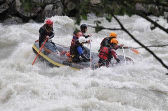 PowerRaft Rafting Ötztal Tirol extrem