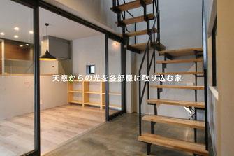 天窓からの光を取り入れる階段室 リノベーション・空間デザイン