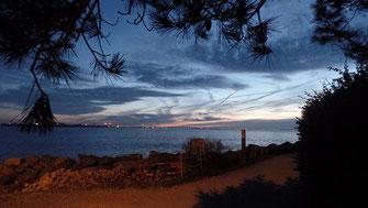 pôr-do-sol na ponte da Ile de Ré