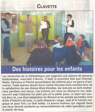 Article sur Chantal et Patrick dans l'Hebdo