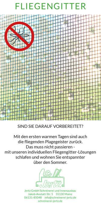 sommer fenster fliegengitter insektenschutz haus wohnen schreinerei mainz jertz schutz insekten mücken fliegen