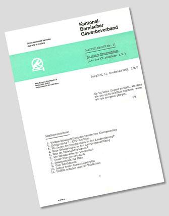 Ausgabe des Kantonal Bernischen Gewerbeverbandes aus dem Jahre 1968