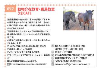動物介在教育・乗馬教室  うまCAFE