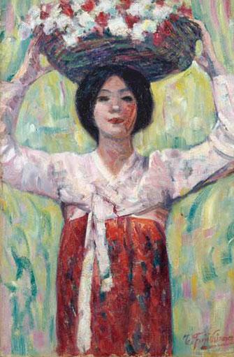 藤島武二《花籠》1913 年 京都国立近代美術館蔵