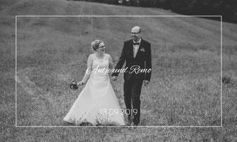 Landhof Liepe Brautpaar auf dem Feld Barnim