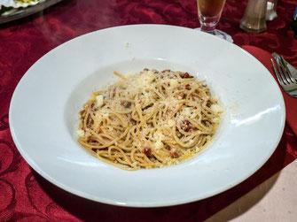 Spaghetti Aglio e oglio Ciao Sizilien Spalt Restaurant