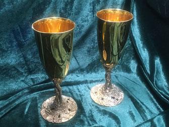 Trinkkelche Silber Vergoldet