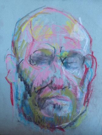 Portrait de Grégory Zanotti - 2017 - pastel sec - 38,5x30 cm.