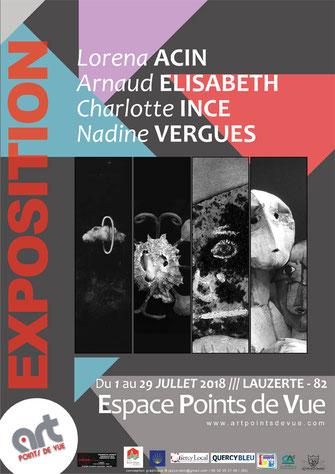 Affiche de l'exposition du mois de mai 2018 à l'Espace Points de Vue de Lauzerte
