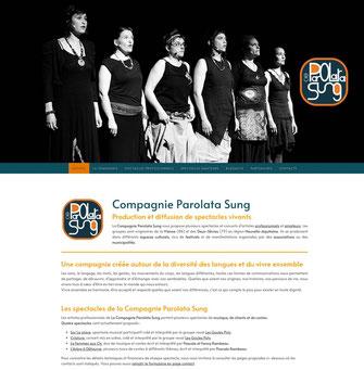 site web de la compagnie parolata sung de loudun 86, réalisé avec e-cime