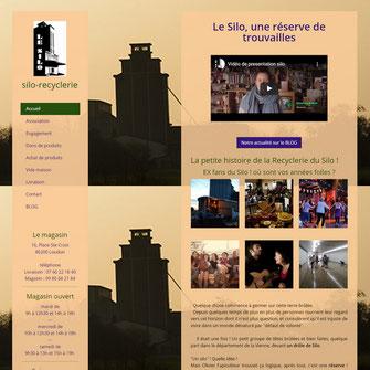 site web du silo recyclerie, association pour le recyclage à loudun 86, réalisé avec e-cime