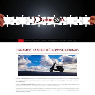 site web de Dynamob, association pour la mobilité de Loudun 86, réalisé avec e-cime