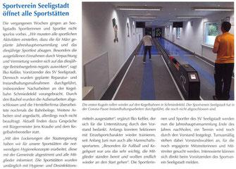 Bild: Seeligstadt Chronik 2020 Sport