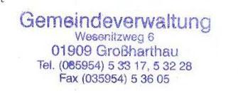 Bild: Gemeindestempel Großharthau