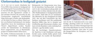 Bild: Seeligstadt Chronik 2020 Glasfaser