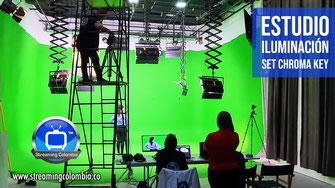 Streaming Colombia - Estudio con Iluminación, Set Chroma Key y Pantalla LED