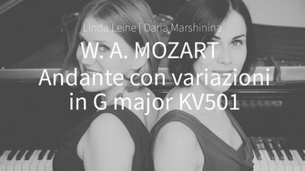 W. A. Mozart - Andante con variazioni in G major