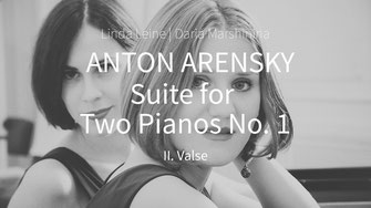 Anton Arensky. Suite for Two Pianos – Valse