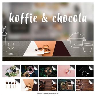 koffie chocola inductie beschermer