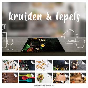 kookplaat inductie beschermer keuken food kruiden lepels