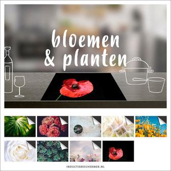 Inductie kookplaat beschermer bloemen planten