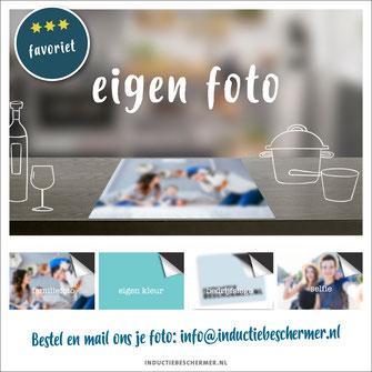 Inductie kookplaat beschermer print foto familie selfie logo