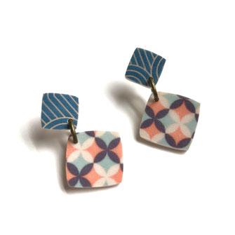 art deco earrings geo